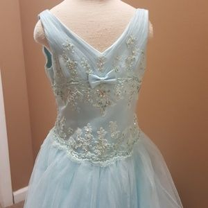 Tiffany Designs Dresses - Light blue girls pageant gown
